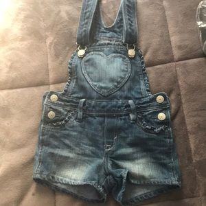 H&M overall shorts for baby girl! SiZe 4-5 US